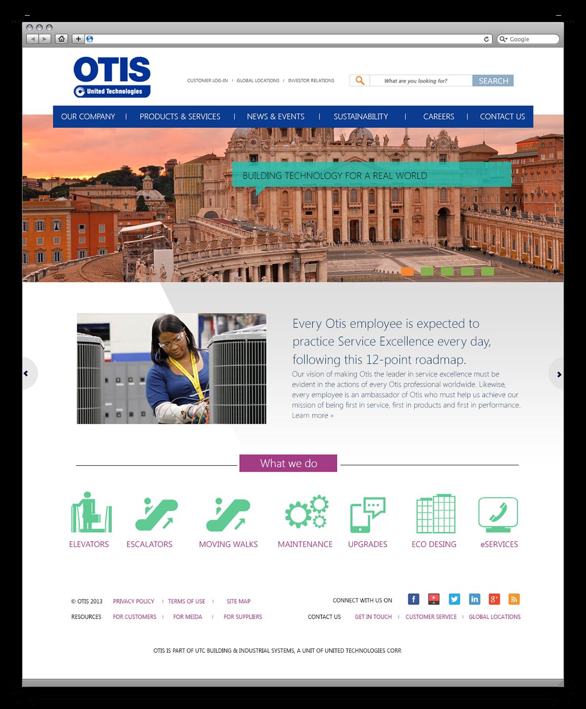 Otis Website Concept on Behance