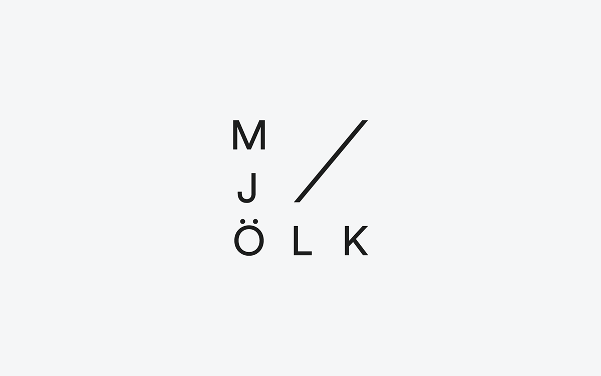 logo identity visual identity mjölk Retail tags Lookbook