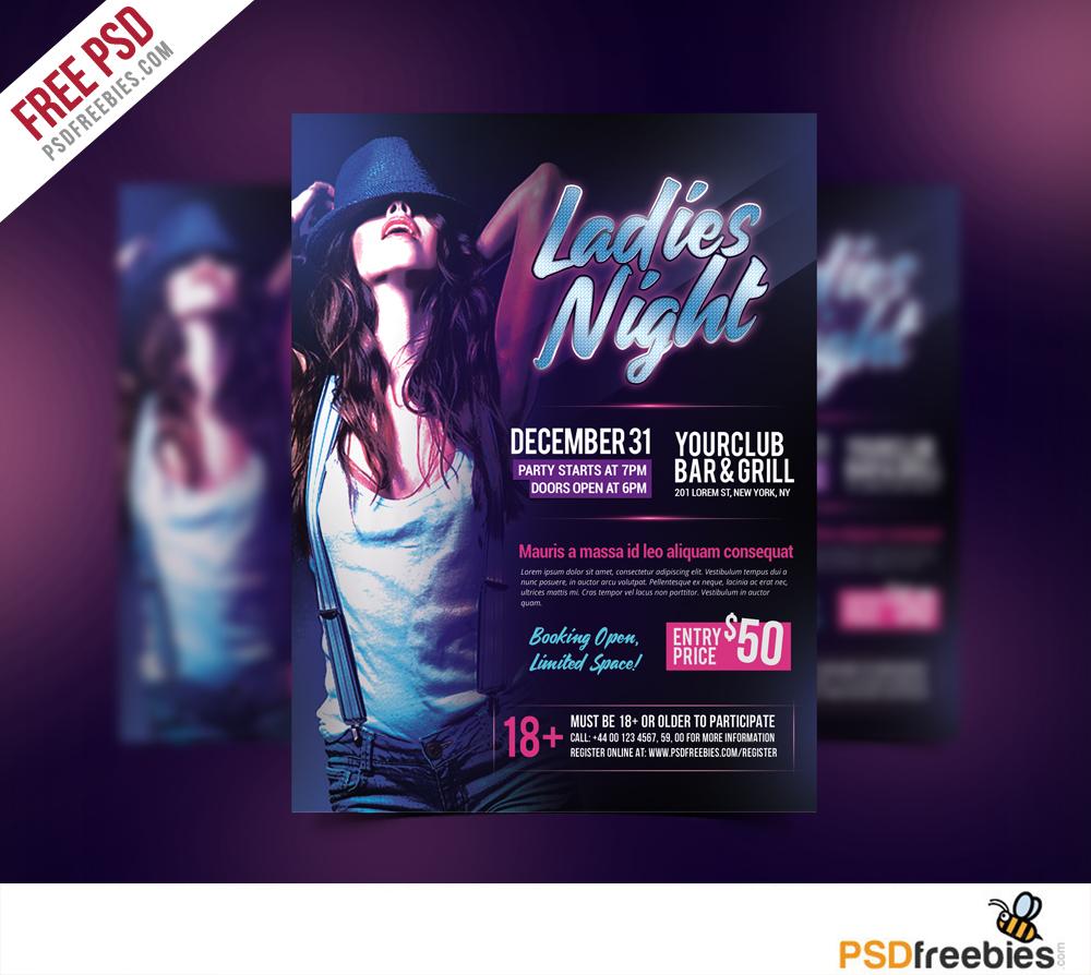ladies night poster psd - photo #5