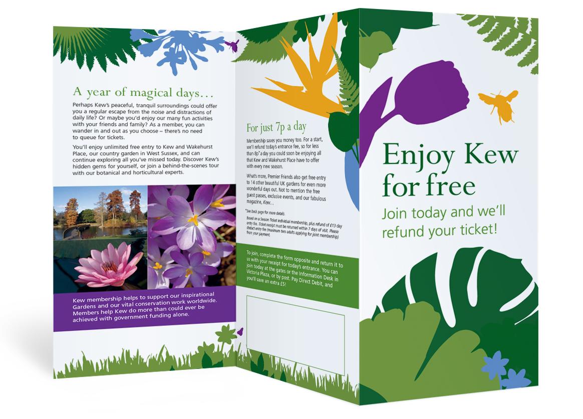 Superieur Brief: Create Print Materials Using 250th Anniversary Branding Elements.  Client: Kew Royal Botanic Gardens