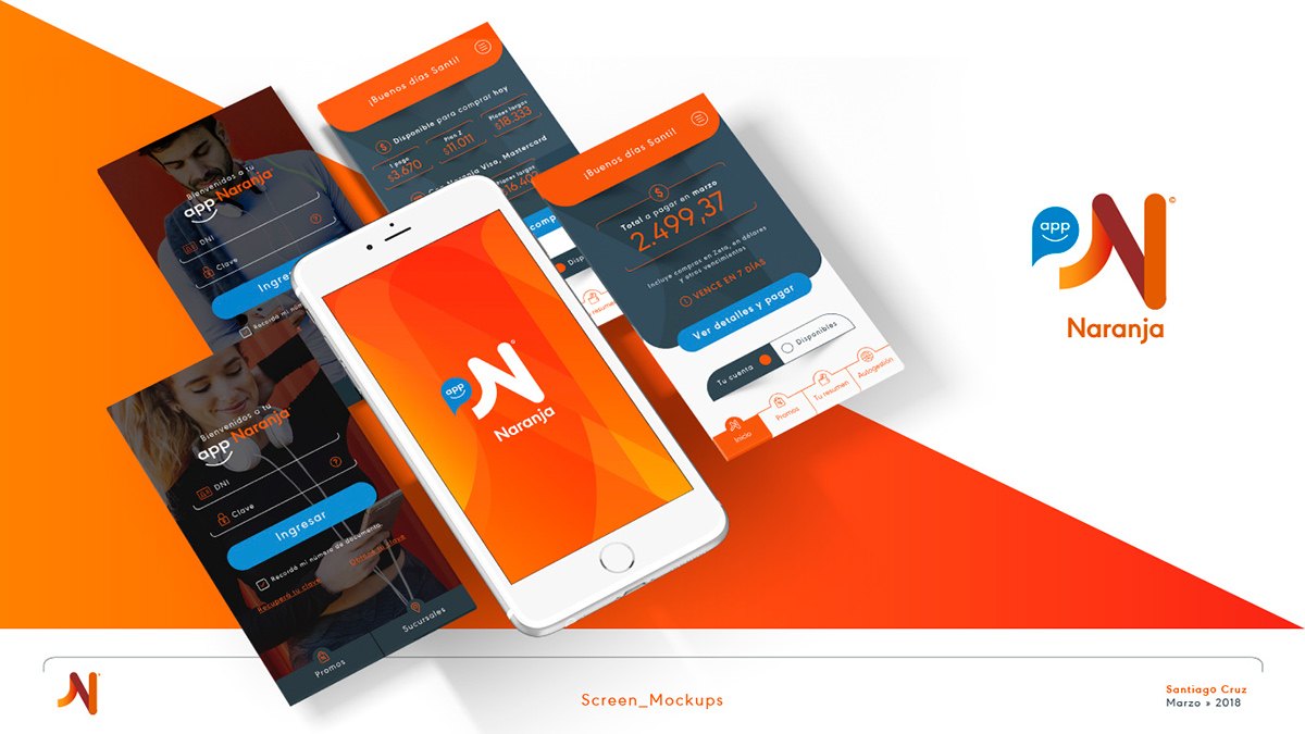 Tarjeta NARANJA   Diseñador UI » Ejercicio App [UX/UI] on Behance