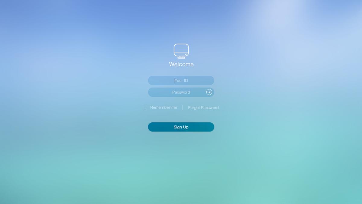 apple ios 8 login UI ux web layout web page colorful mac iMac login page creative iOS Style Plain vibrant