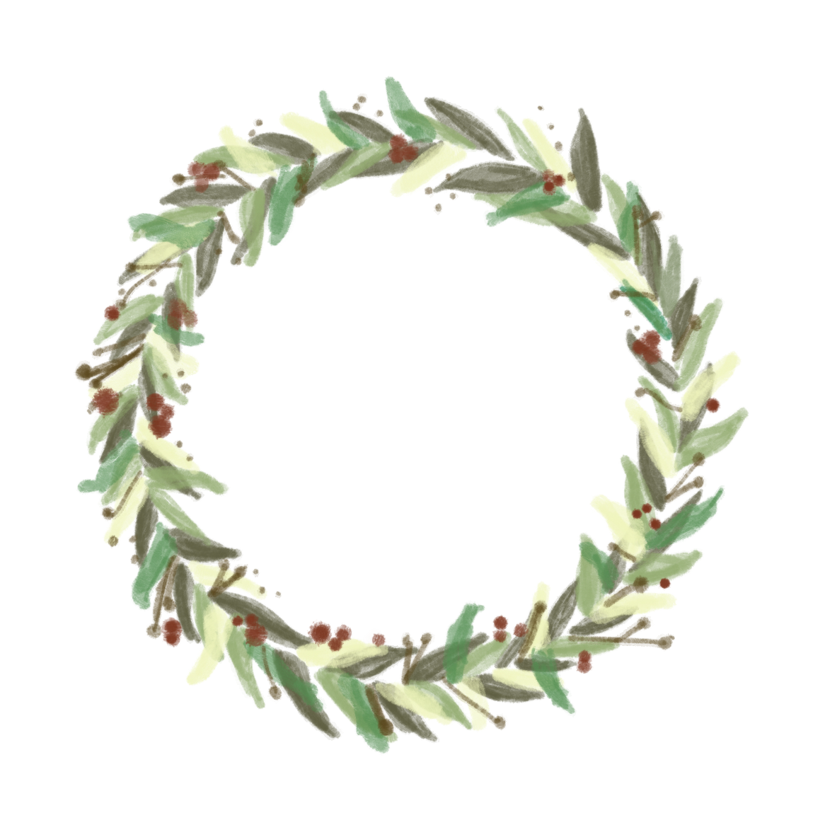 Painted Wreath Graphic - Free Download on Behance