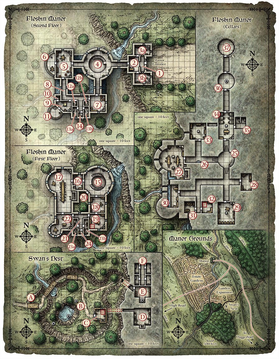 D&D Floshin Manor Battle Map