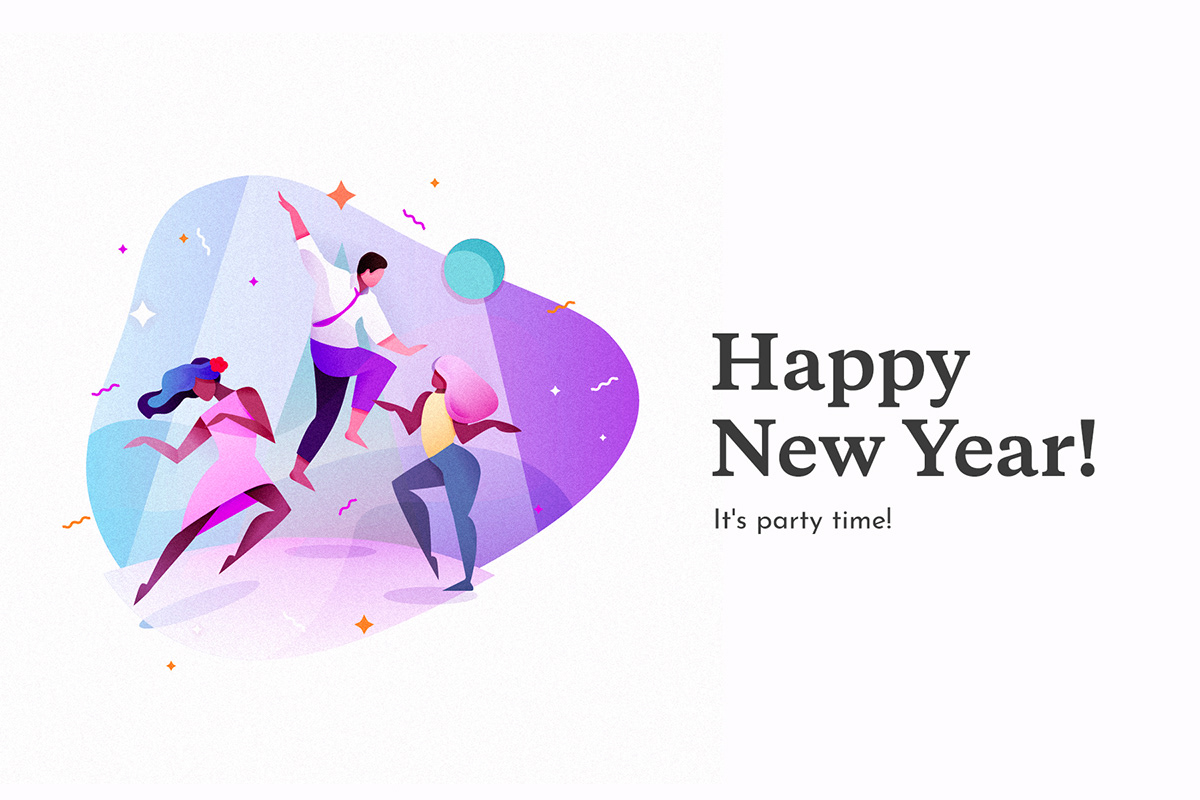 Happy New Year Illustration 55