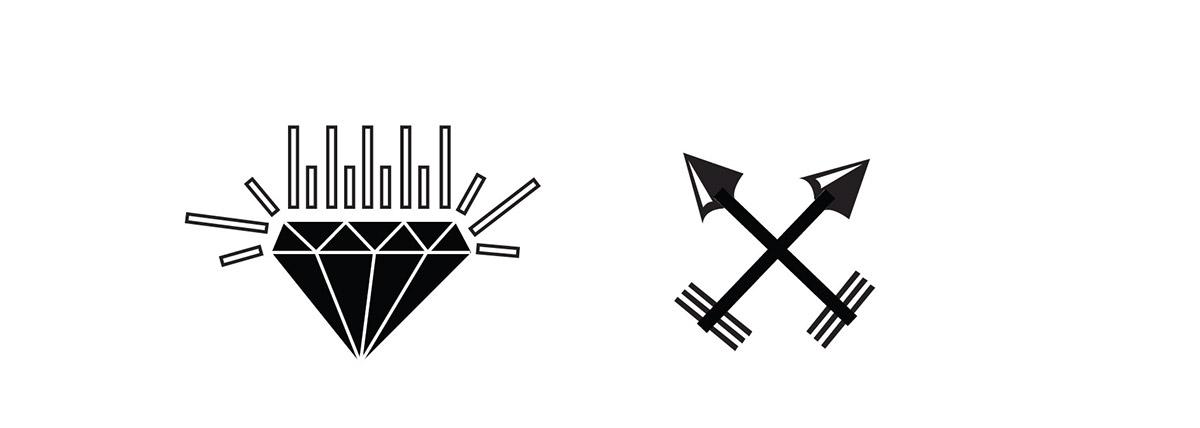 logo hunter man buy sale brand Hipster beard arrow black and withe