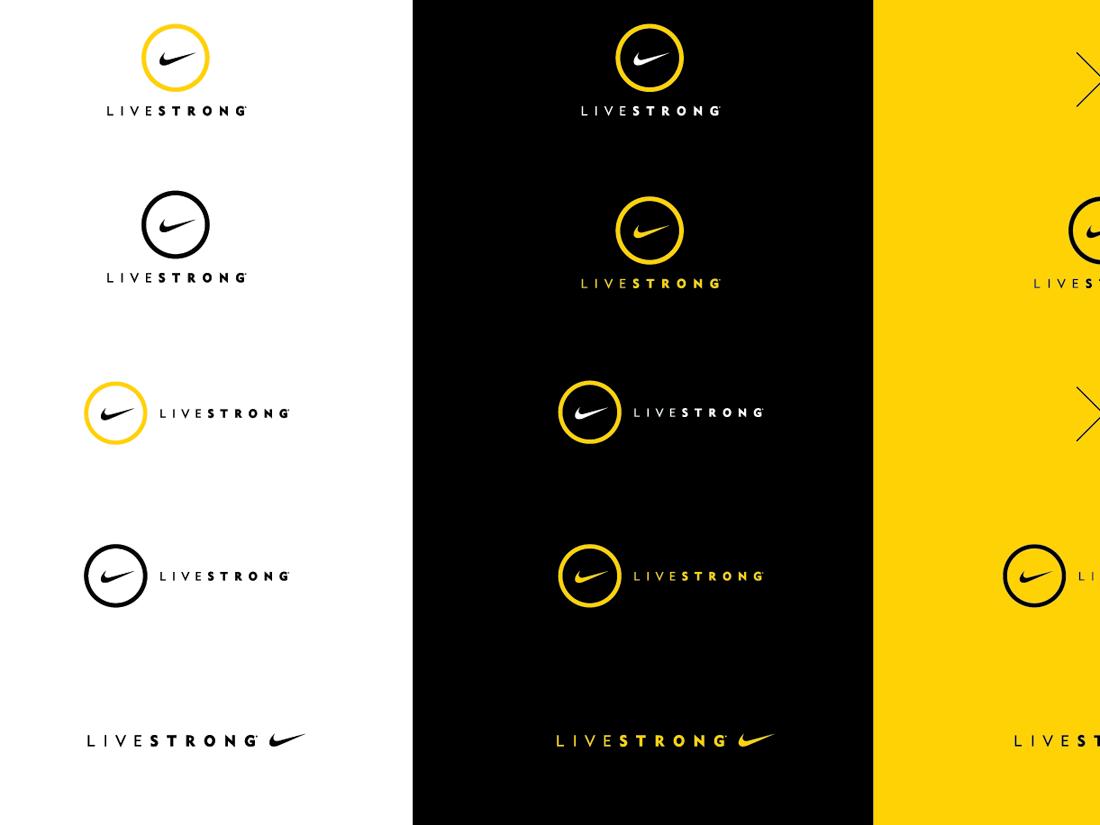 nike livestrong brand identity on behance rh behance net Branding Documents Brand Guidelines.pdf