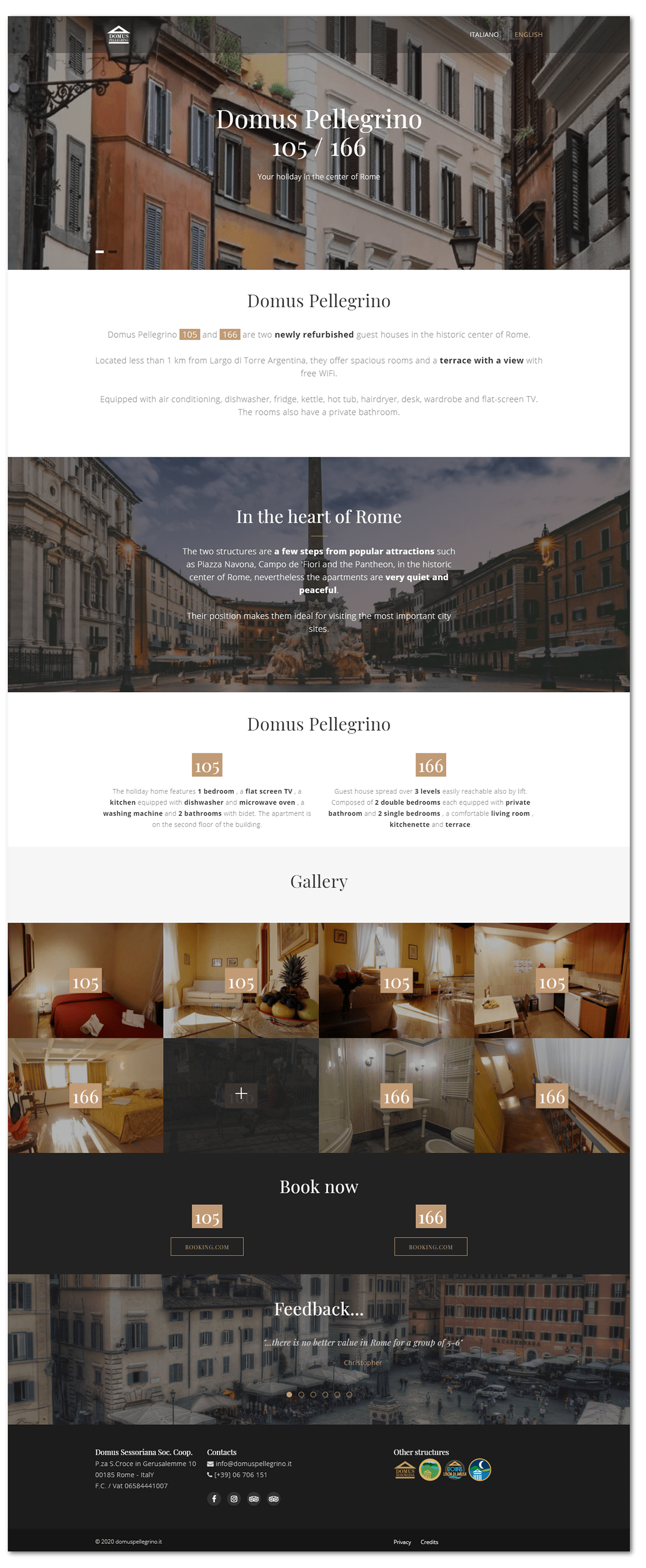 Guest House landing page Web Design