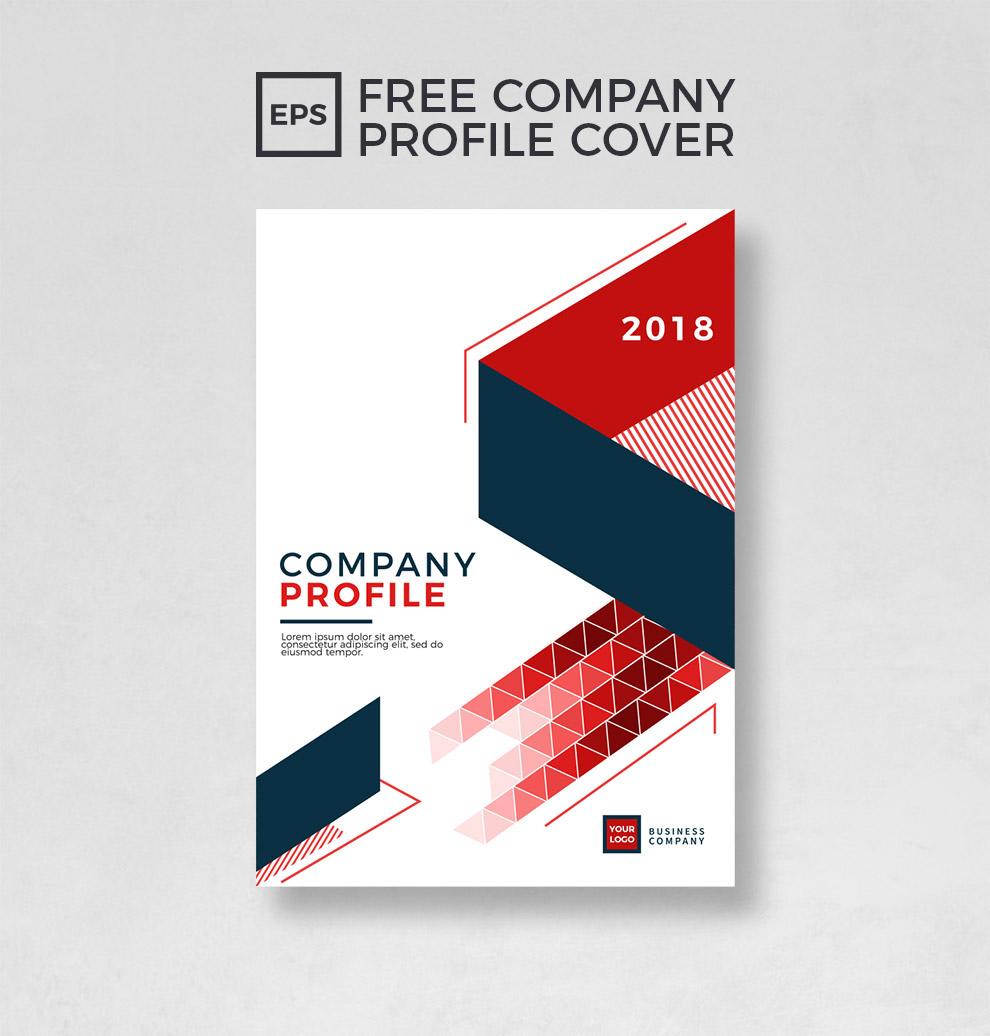 Company Profile Design Template: FREE COMPANY PROFILE COVER TEMPLATE On Behance
