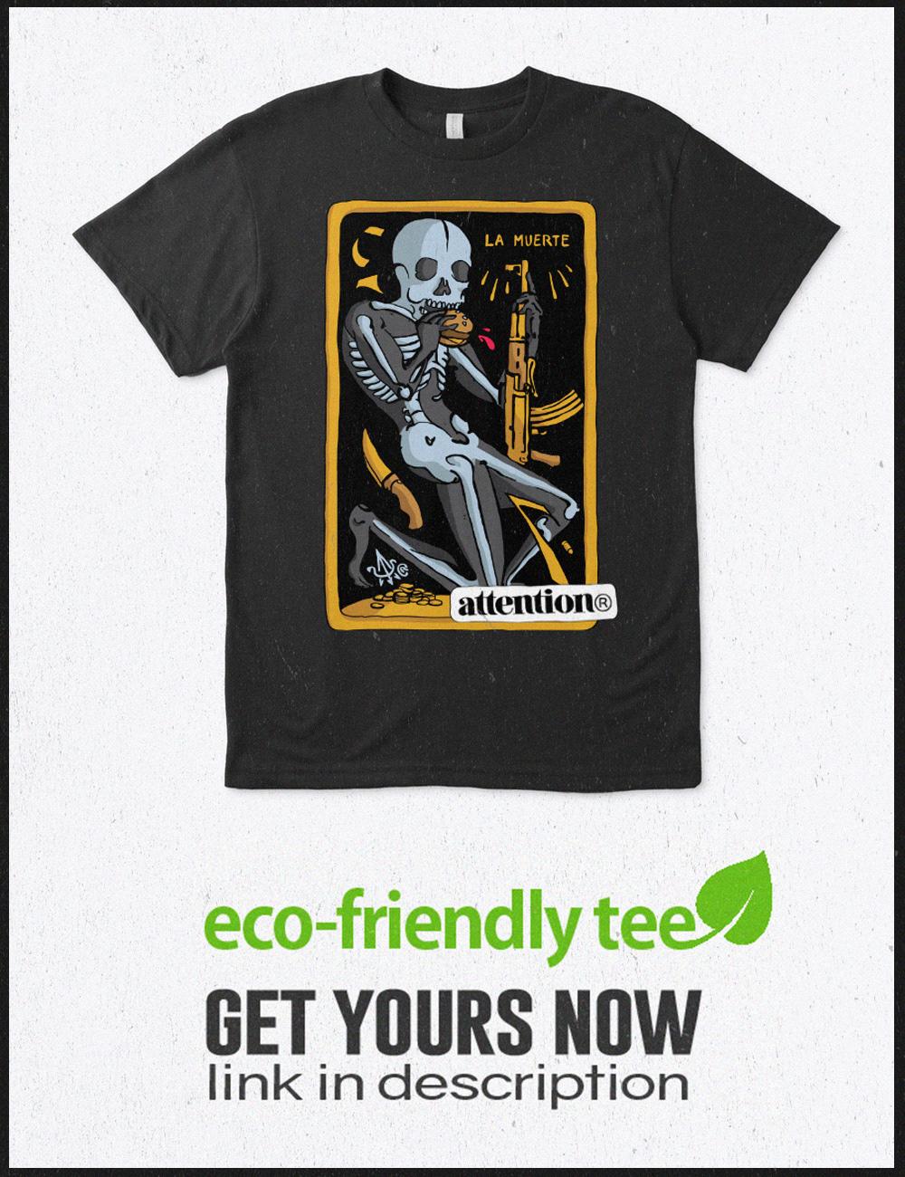Image may contain: shirt, cartoon and poster
