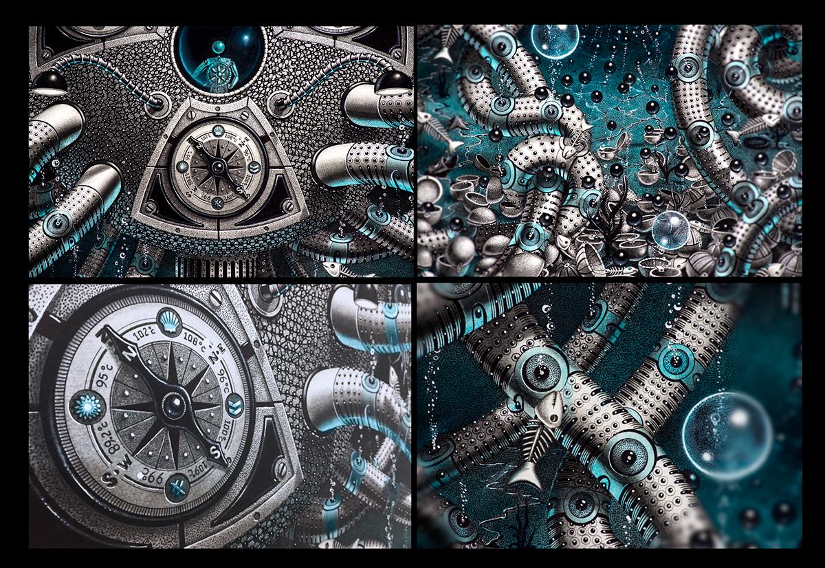 Samuel Gomez Art The Blue Ringed Oil Drilling Ocean Warming contamination