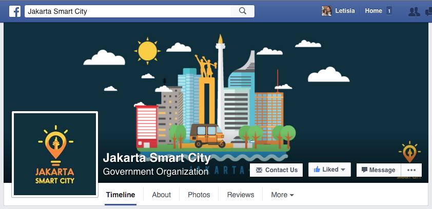 Jakarta Smart City Social Media Header on Behance