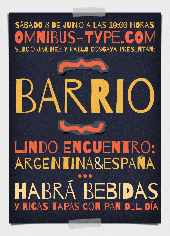 type Typeface typography   tipografia font fuente lettering Omnibus Type barrio google fonts
