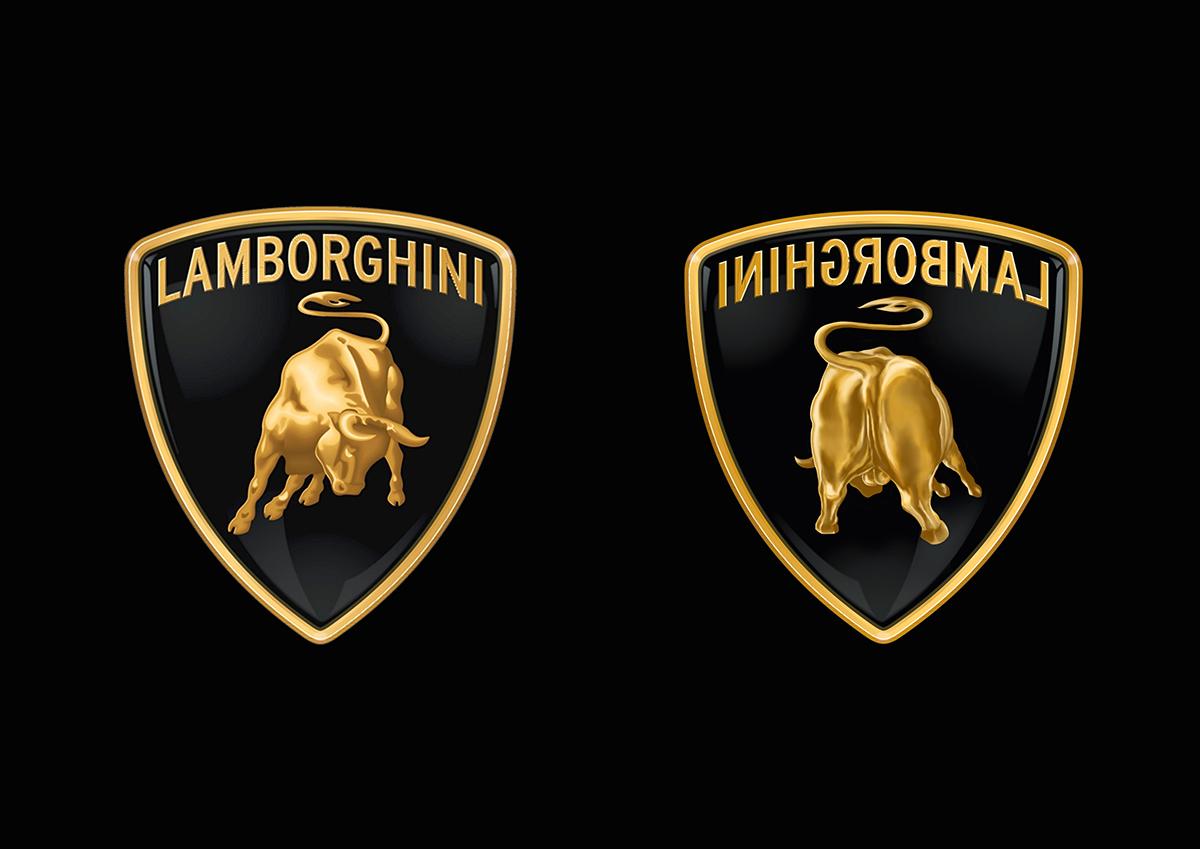 behind of the lamborghini logo on behance