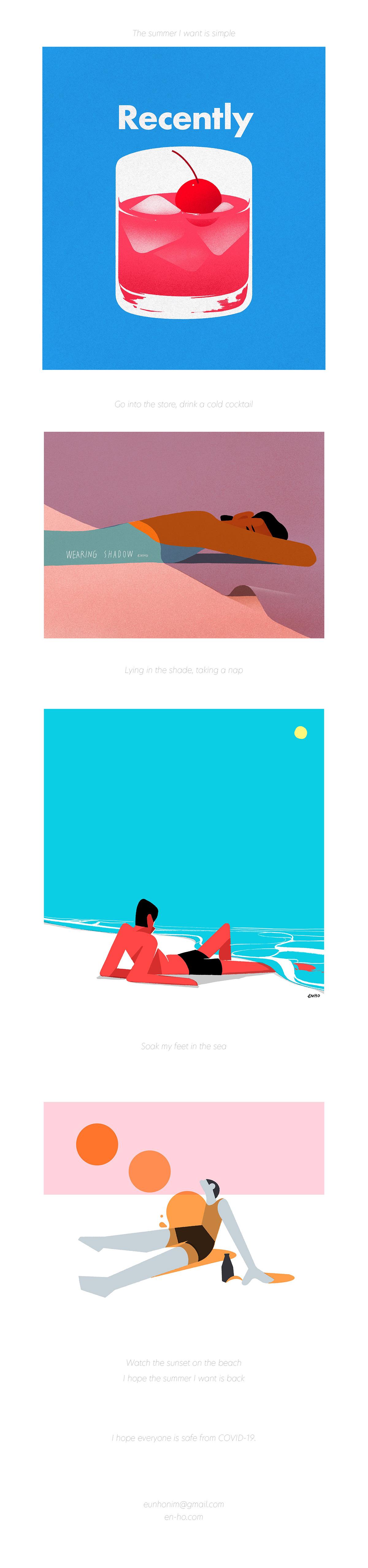 artwork Drawing  graphic ILLUSTRATION  summer