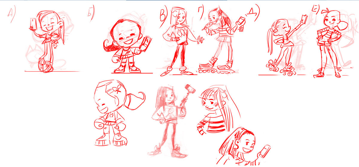 Character neresta football soccer family digital 2D cartoon
