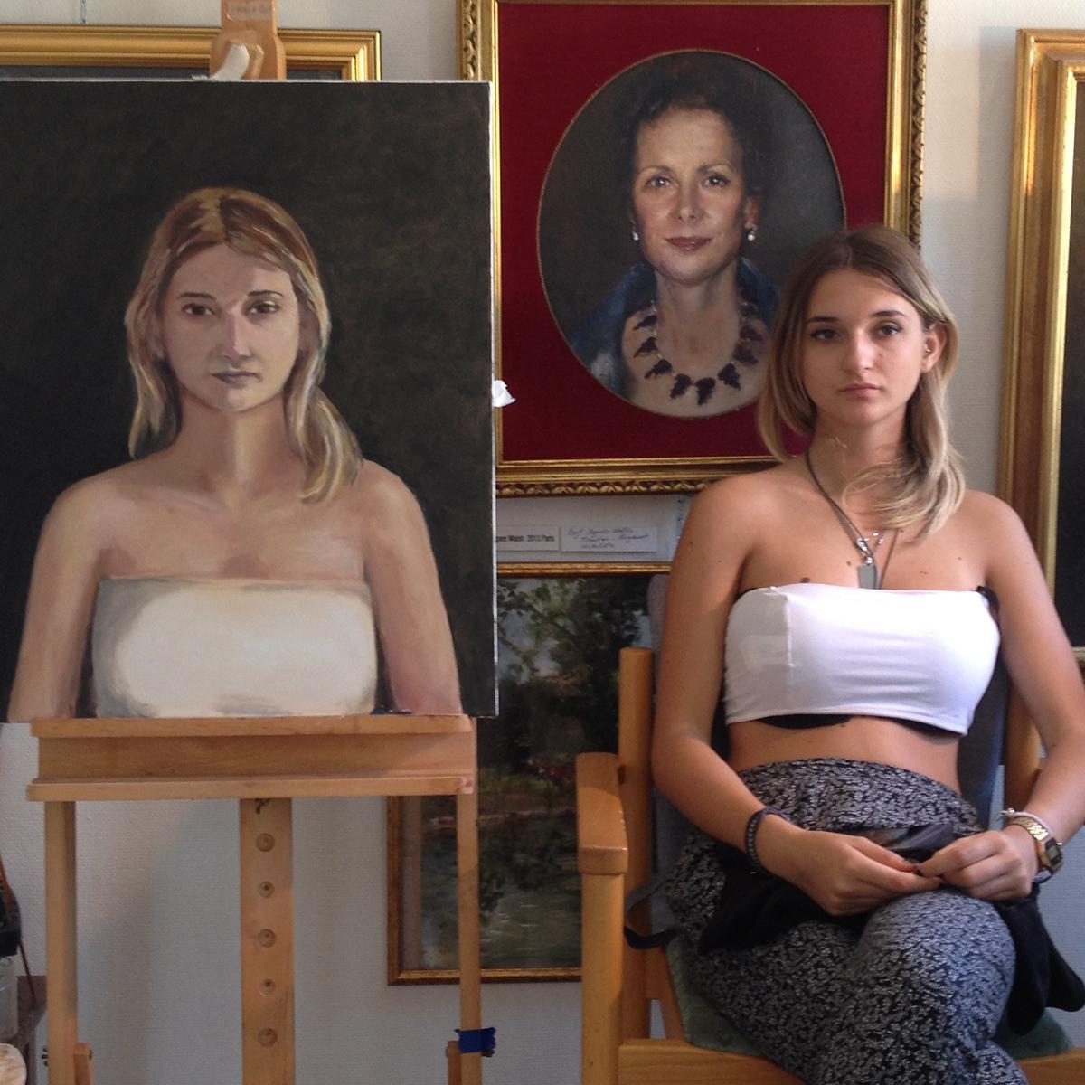 Classic porträtt möller Höganäs Skåne helsingborg sverige fine art oil