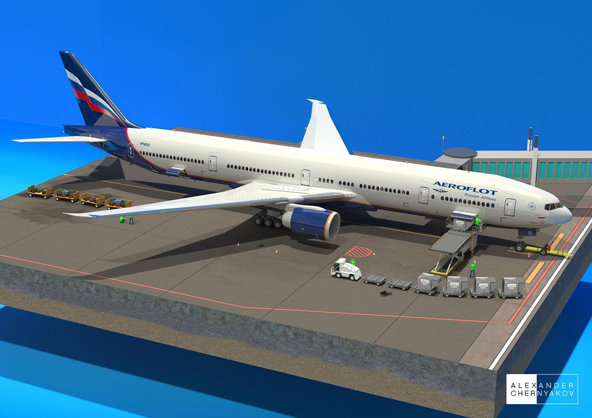 Boeing 777 300er Cutaway Diagram On Behance