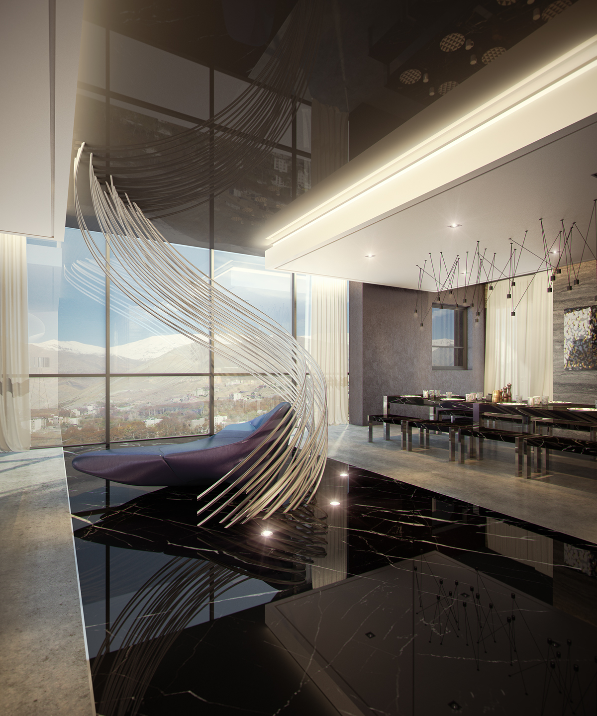 Ultra Modern Kitchen Designs You Must See Utterly Luxury: LUXURY PENTHOUSE On Behance