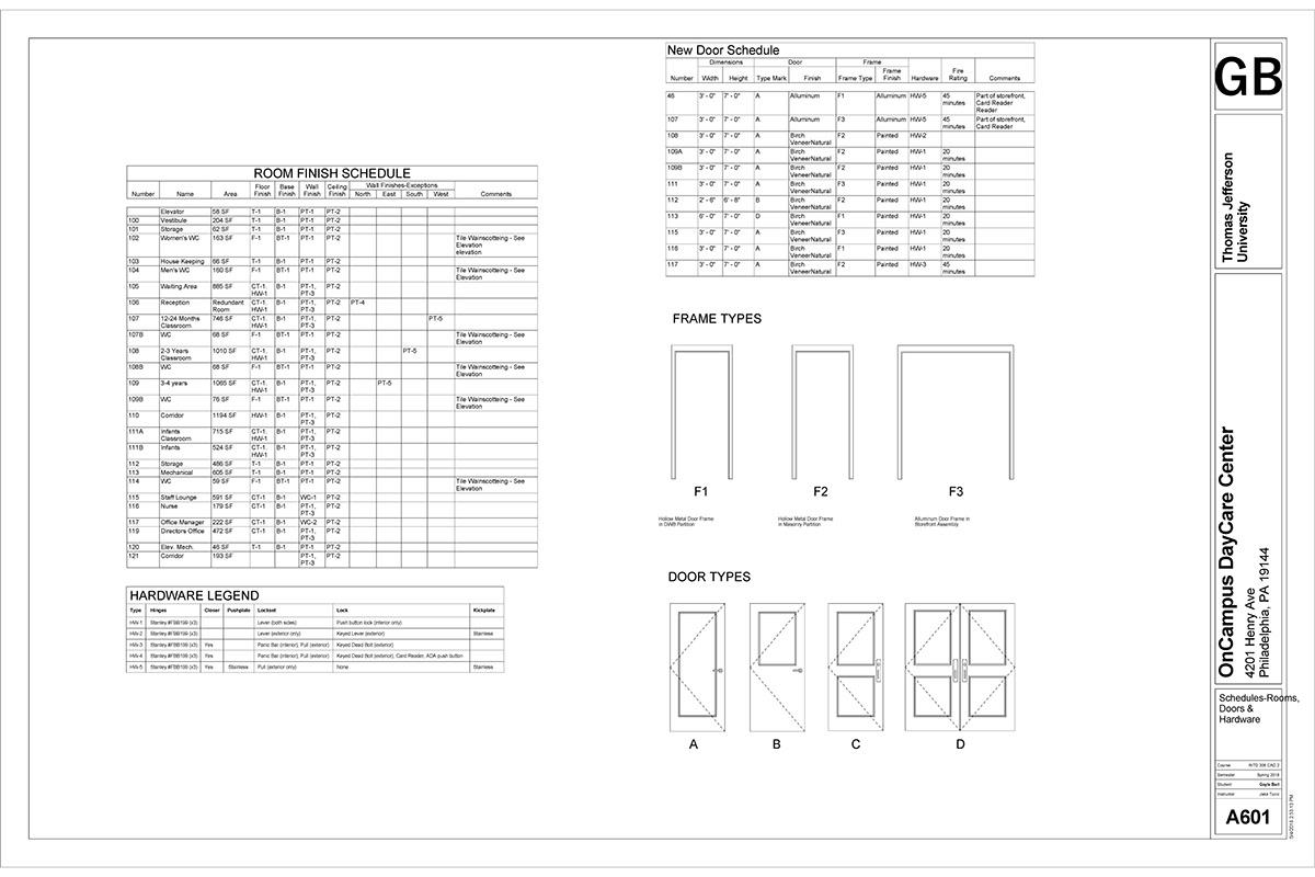 SEED Center Daycare Construction Documents on PhilaU Portfolios