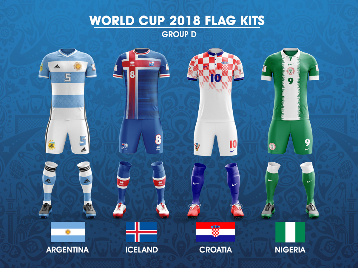 new styles 026a4 e3bb4 World Cup 2018 Flag Kits on Behance