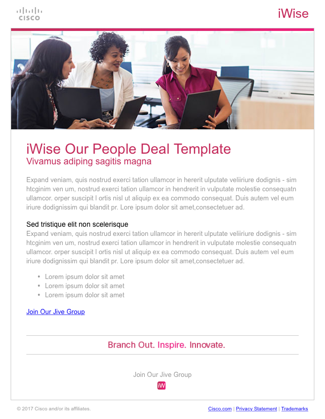Cisco iWise email templates on Behance