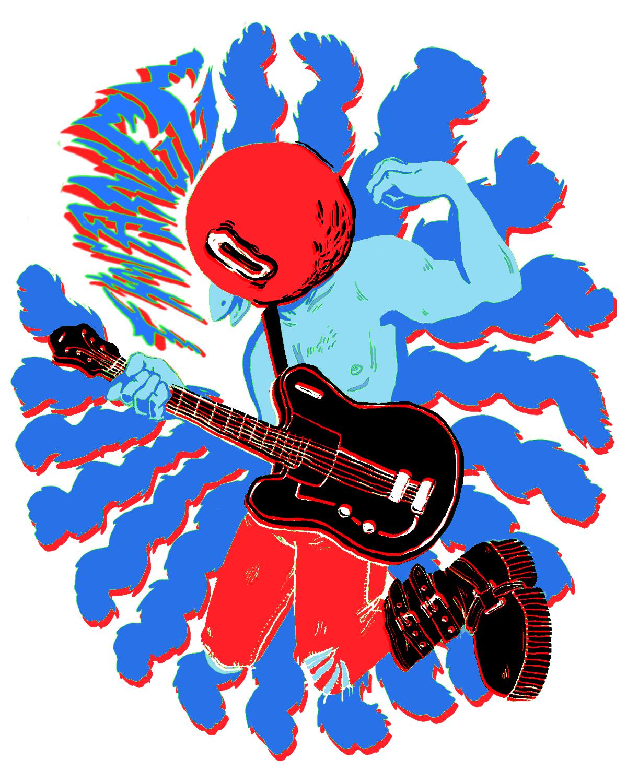 adobeawards punk bird guitar