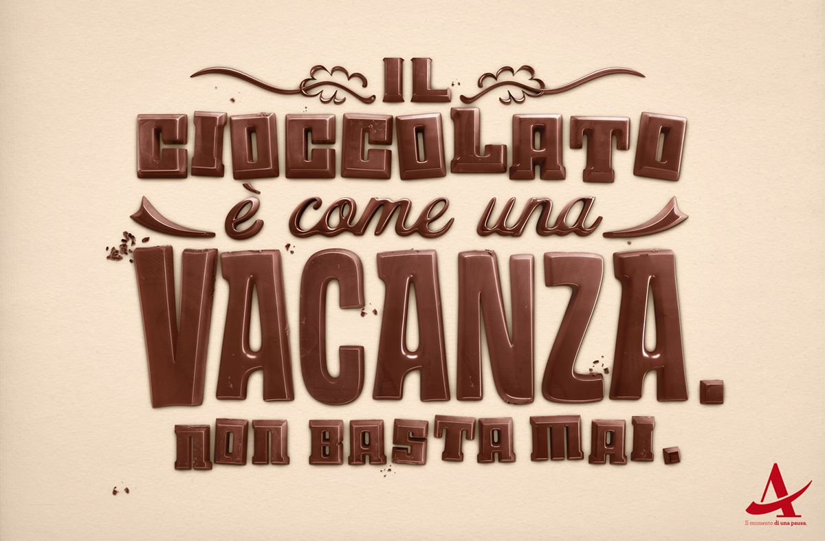 chocolate  FOOD  Illustration  text vacanza Autogrill