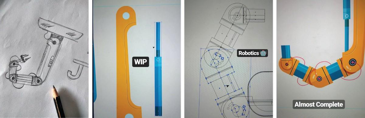 36 days type typography   machine robotics India yatish asthana tech alphabet animation  robot