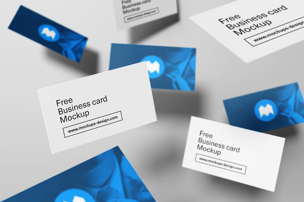 Free Flying Business Cards Mockup On Behance