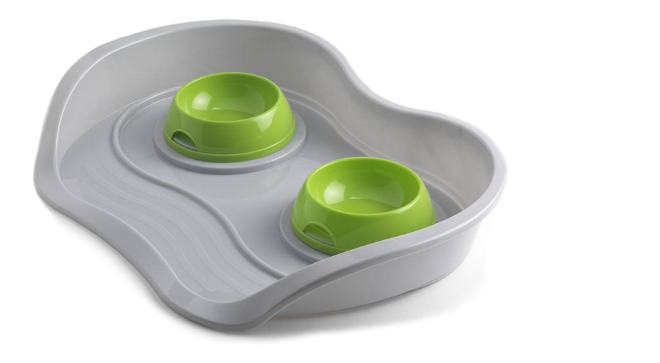 Pet dinner tray Cat dog plastic injection molding Food  bowls pet products moderna products