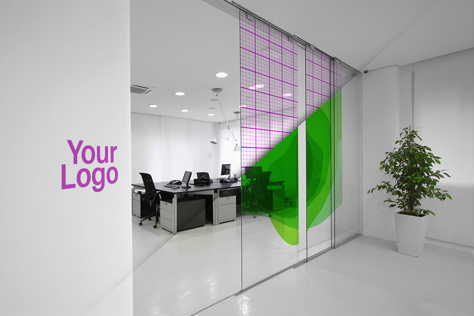 Clean And Minimalistic Office Interior Mockup Designed For Company Logo Presentation By Alef Design Agency