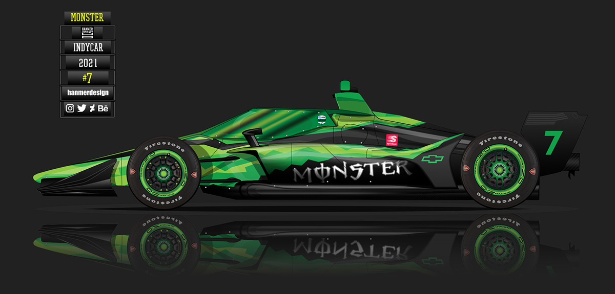 Monster Energy Indycar 2021 on Behance