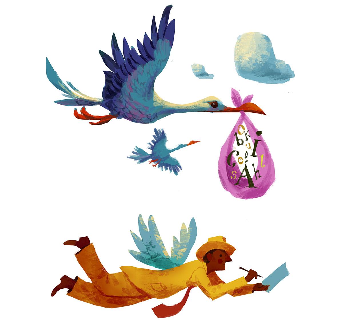 Image may contain: sky, cartoon and bird