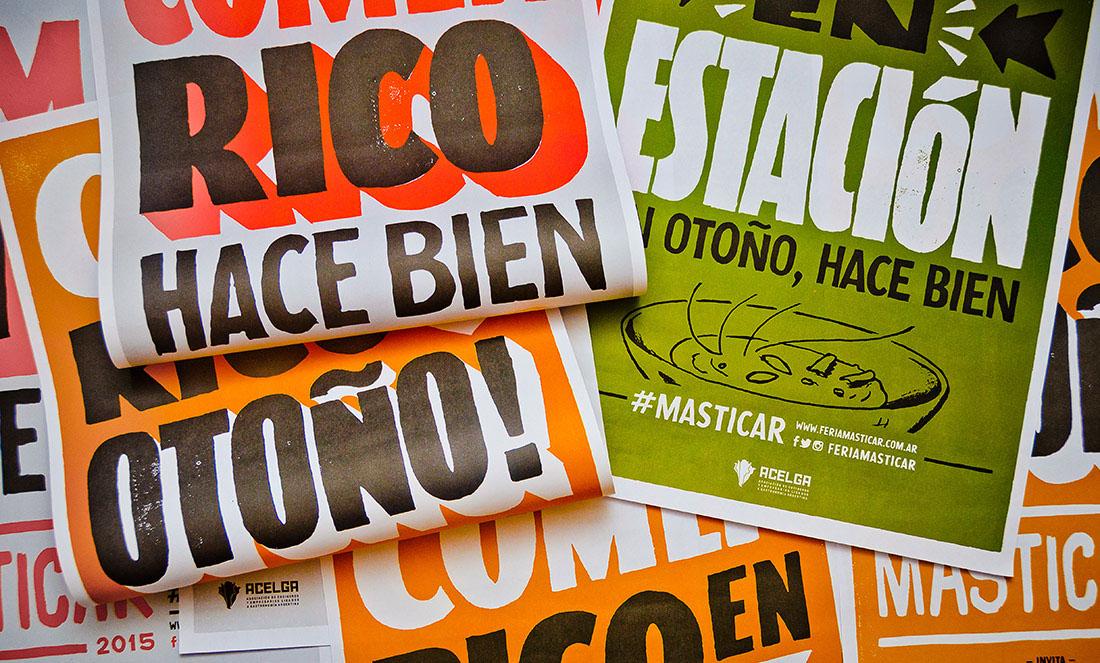masticar otoño lettering letras poster Food  gourmet Chefs yaniguille yaniarabena GuilleVizzari feria feriamasticar comerrico type
