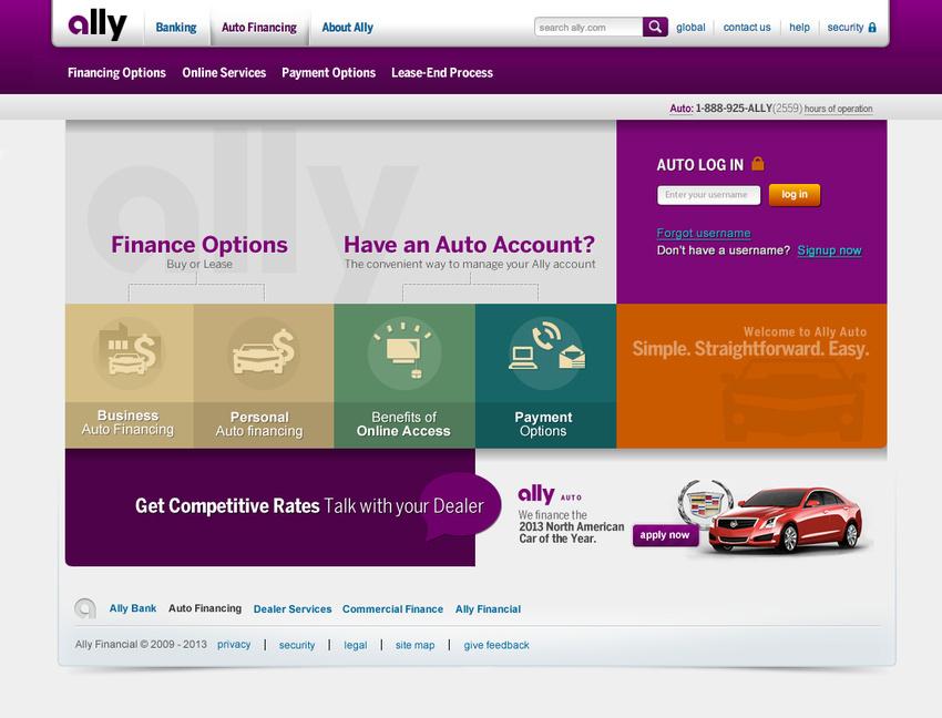 Ally Bank Auto Login >> Ally Financial Login