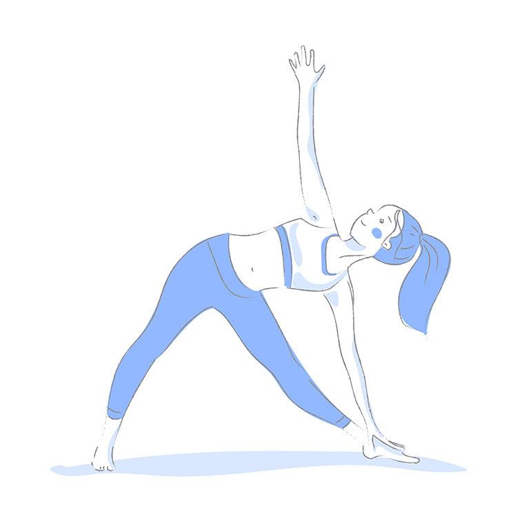 happy girl doing yoga