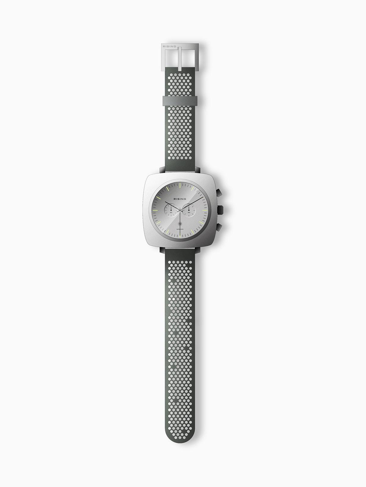 Brand Design industrial design  product design  rising chronograph sebastian halin watch design swedish design art direction  graphic design