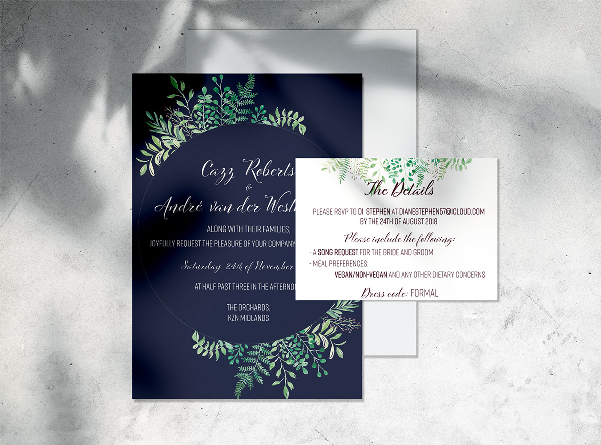 Cazz and André Wedding Stationery