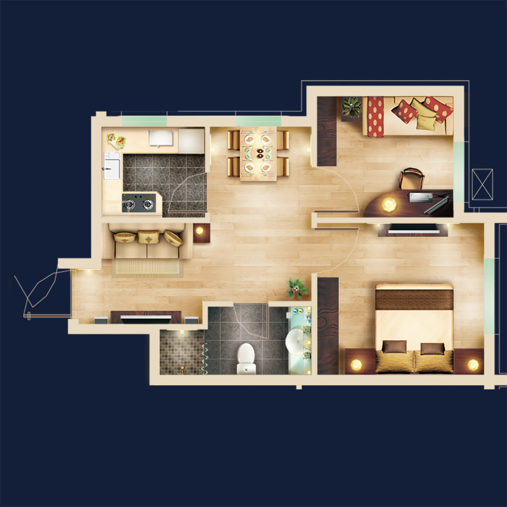 Marvelous 2D Floor Plan   Free PSD Blocks Kit On Behance