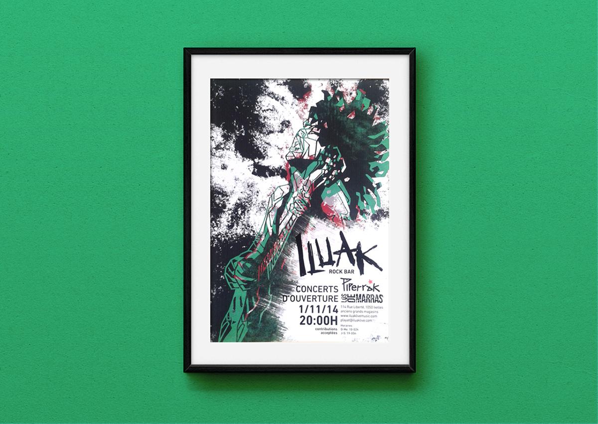 type color poster cartel concierto rock ciudad montpellier centro bienal varsovia españa comida tipografia acuarela