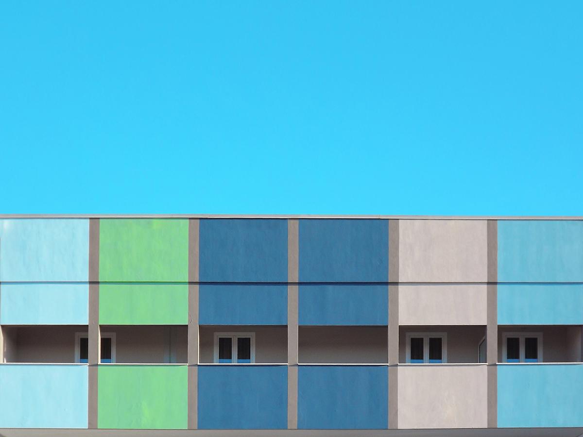 minimal geometric Urban cityscape NAPOLI colour digital design symmetry building SKY architectural Landscape Italy Naples