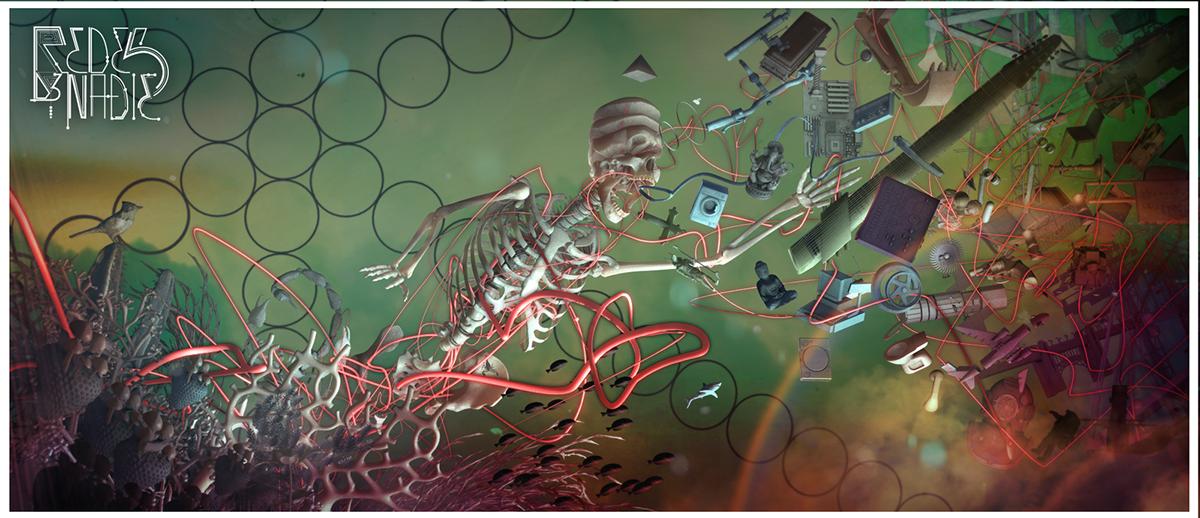 Cover Art music art salom skull