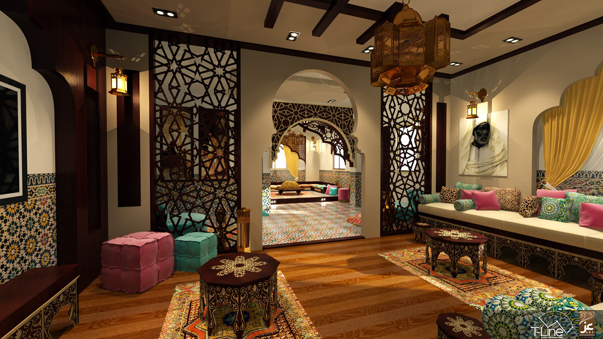Living Room Moroccan Style Cairo On Behance