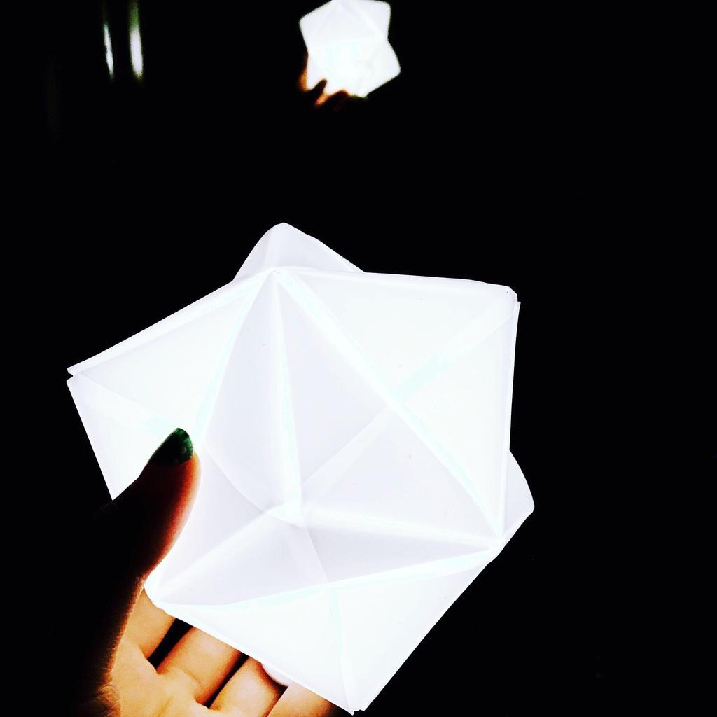 hardware stellated octahedron Mockup origami  led