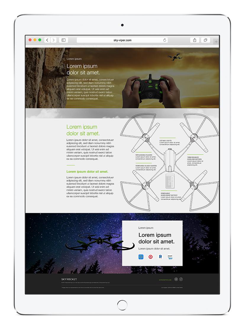 Web Design  Responsive Design UX design drones Tech toys art direction  ui design Photo Retouching ILLUSTRATION