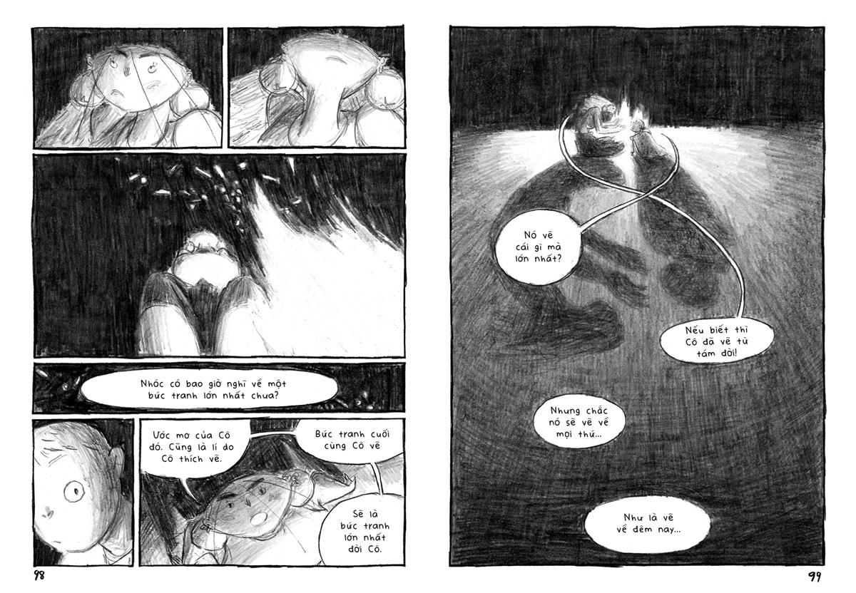 black and white comic fantasy Graphic Novel shadow