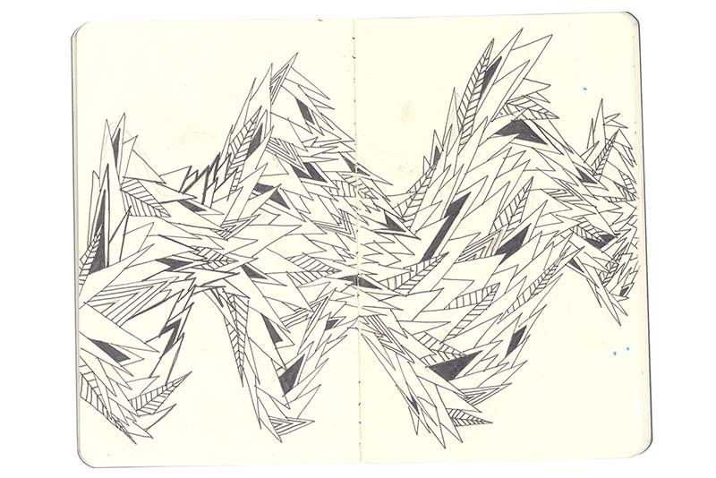 always always sound color pattern Overlay hand drawn