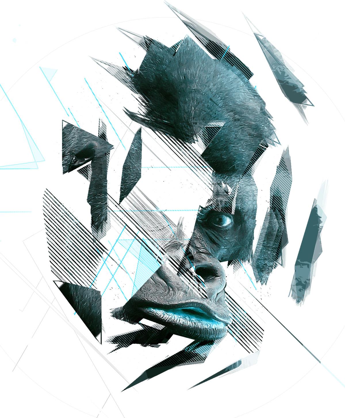 Geometric Dispersion FX - Photoshop Add-On on Behance