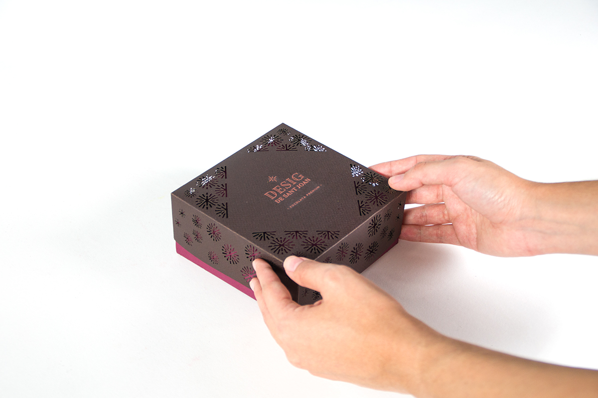 chocolate premium desig Sant Joan elisava laser cut gourmet fireworks barcelona pattern